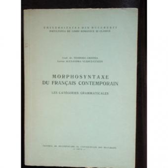 MORPHOSYNTAXE DU FRANCAIS CONTEMPORAIN