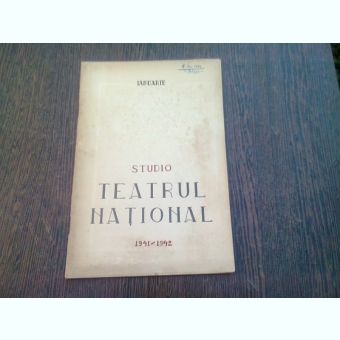 PROGRAM TEATRUL NATIONAL, SALA STUDIO, STAGIUNEA 1941-1942, LUNA IANUARIE