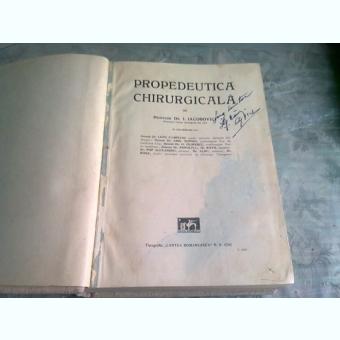 PROPEDEUTICA CHIRURGICALA - I. IACOBOVICI