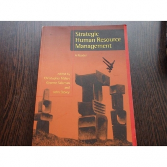 STRATEGIC HUMAN RESOURCE MANAGEMENT - A. READER