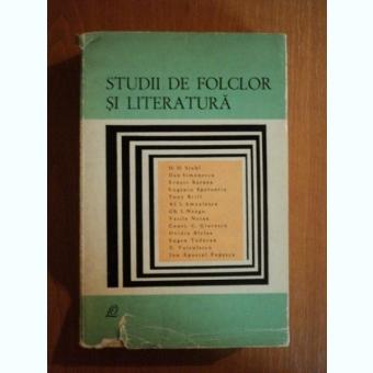 STUDII DE FOLCLOR SI LITERATURA , 1967
