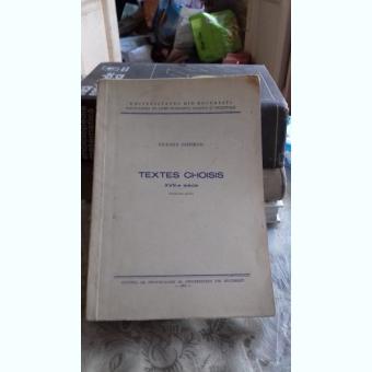 TEXTES CHOISIS - VICENTA PISOSCHI A DOUA PARTE