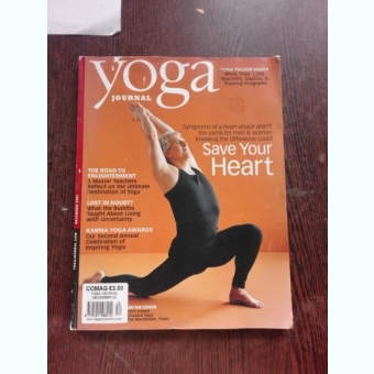 YOGA JOURNAL, SAVE YOUR HEART  (TEXT IN LIMBA ENGLEZA)